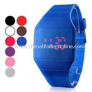 LED Silicone Touch Screen Watch