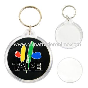 New Design Plastic Photo Keychain with Logo, OEM Are Accepted, Customized Are Welcomed from China