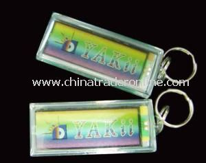 Promotional Single Flashing Solar Keychain from China
