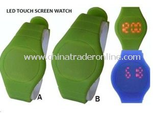 2014 New Silicon LED Touch Screen Watch for Couples