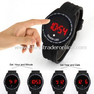 Boust LED Touch Screen Digital Date Military Men Boys Sports Wrist Watch