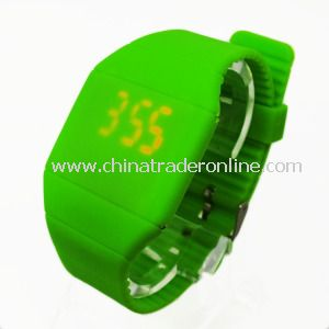 Faceless Smooth Silicone LED Touch Screen Digital Watches
