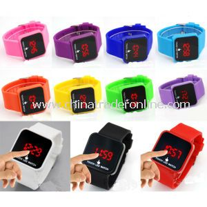 Factory Newest Touch LED Cheap Sport Silicone Watch