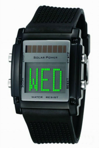 New Design LED Solar Watch with Logo, OEM Are Accepted, Customized Are Welcomed
