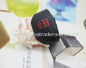 Ultrathin Couples Silicon LED Watch with Touch Screen