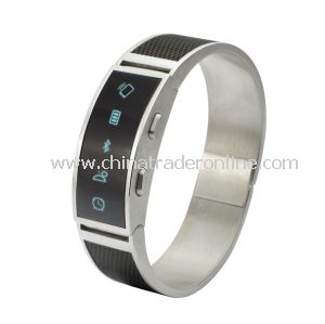 2014 Popular Metal LED Wirst Bluetooth Bracelet Watch