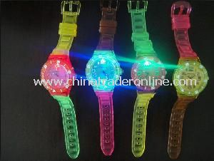 Changeable LED Laser Quartz Watch