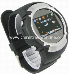 Mq222 Quad Band 1.33 Inch TFT LCD Touch Screen Mobile Phone Watch with Camera and FM