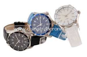 2013 Promotional Quartz Stainless Watch Leather Strap Watch