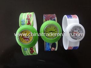 Custom Hot Sell Fashion Promotional Silicone Slap Watch from China