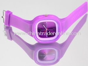 Hot Selling Customized Promotional Chinese Movt Jelly Silicone Watch from China