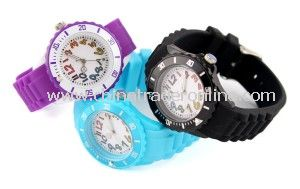 Plastic Watches Lovely Sport Watches Plastic Band Watches for Promotional