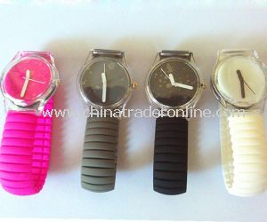 Promotional Kids Elastic Band Silicone Watch