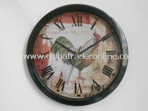 12 Inch Metal Quarz Wall Clock from China