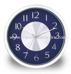12 Inch Round Wall Clock from China