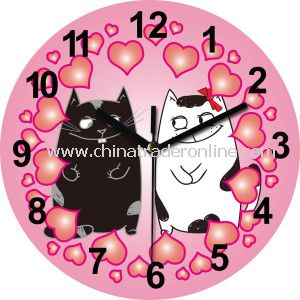 Acrylic Wall Clock with Fancy Design for Kids
