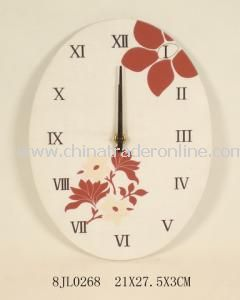 Fabric Oval Elegant Wall Clock