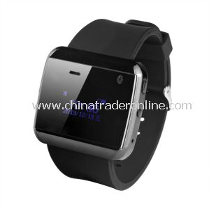 2014 Fashion Bluetooth Watch Phone with Earpiece MP3, MP4 Player