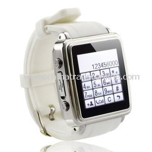 2014 Latest Wholesale Wearable Smart Bluetooth Cell Phone Watch with MP3 MP4