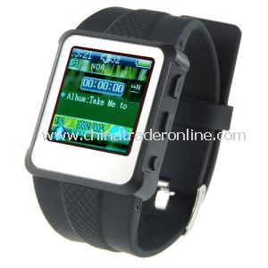Fashion Design MP3 MP4 Player Watch - 1.5 Inch Screen, 8GB from China