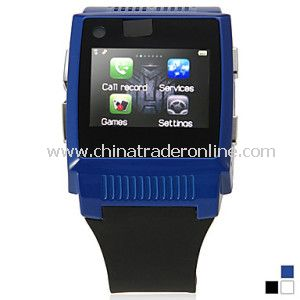 Sport GSM Watch Wrist Mobile Phone with Touch Screen Bluetooth MP3 MP4