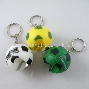 Football Shape Keychain with Bottle Opener