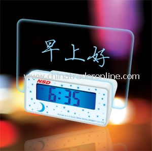 Message LCD Clock, Desktop Clock, Digital Clock