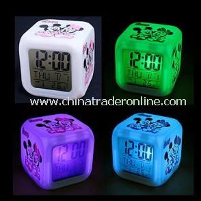 7 Color Grow Light LCD Alarm Clock