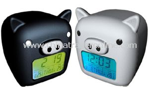 Flash LCD Digital Alarm Clock 28