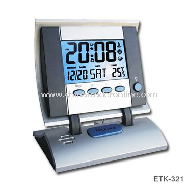 LCD Talking Clock with Backlight & Music from China