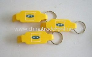 Plastic Bottle Opener with Keychain