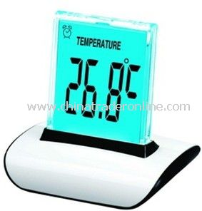 Push Panel Color-Changing LCD Clock from China