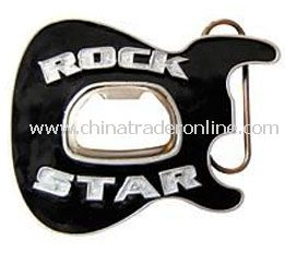 Rock Star Bottle Opener Belt Buckle