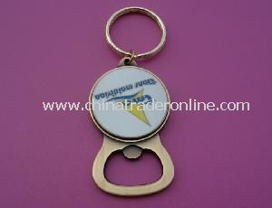 3D Zinc Alloy Bottle Opener Keychain