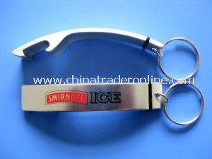 Aluminum Bottle Opener with Keychain from China