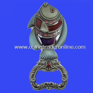 Customized Fish Shaped Keychain Bottle Opener