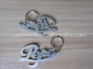 Customized Logo Chrome Plated Bottle Opener Keychain