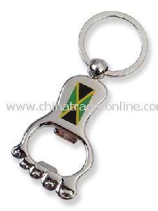 Metal Keychain With Bottle Opener