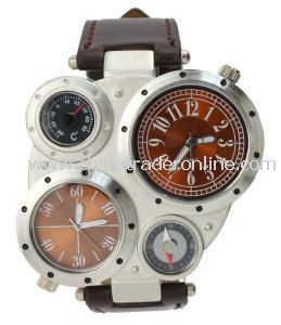 Dual Time Multifunction Digital Analog Men Watch