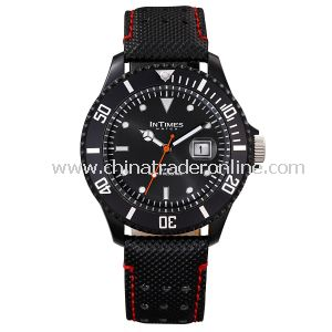 Intimes Special Leather Strap Mans Wrist Watch from China