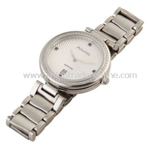 Men Quartz Stainless Steel Watch with Calendar