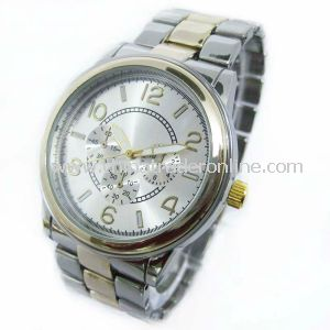 Fashion Two Tone Alloy Band Mens Watches from China