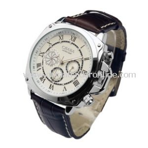 Men Seagull Movment Machanical Chronograph Watch