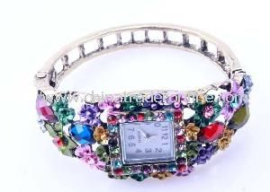 Fancy Designer Lady Bangles Watch
