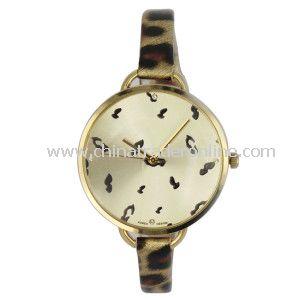 Lady Watch with Silm Strap Animal Printing
