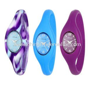 Ladys Electronic Digital Silicone Sports Wrist Watches from China