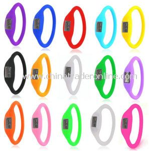 Ladys Jelly Silicone Electronic Digital Sports Bracelet Watch