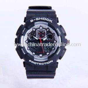 Multifunctional Double Display Sport Electronic Watch with Luminous