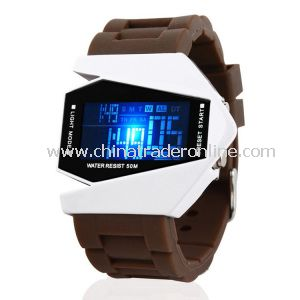 Multifunctional LED Plane Electronic Watch with Luminous