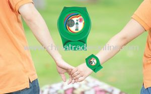 Silicone Slap Wristwatch with Electronic Watch Core Electronic Watch